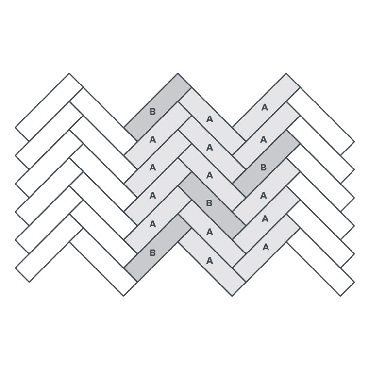 2-colour Small Parquet - EP110 wire image