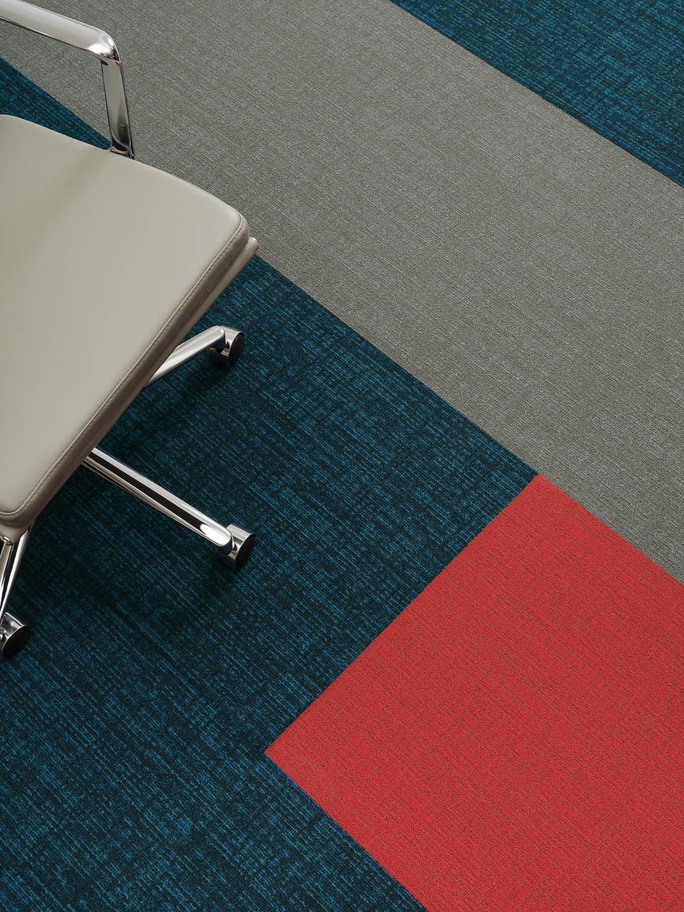 Amtico Colour Anchor Wink, Rumpus und Poppy in der Brick Verlegemethode
