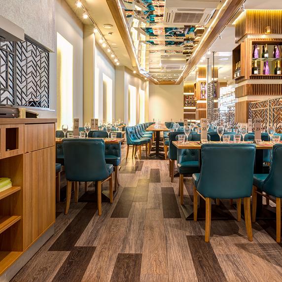 FeD Restaurant, CARDIFF  Bodenbeläge für den Einsatz im
