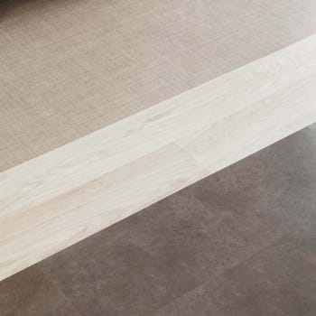 Amtico Spacia LVT in Linen Weave (SS5A3800) with White Oak (SS5W2548) and Ceramic Sable (SS5S3593)