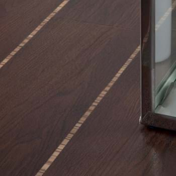 Amtico Spacia in Black Walnut (SS5W2534) with Zebrano Stripping SS5W2526